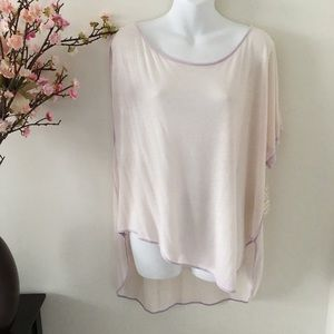 We the Free Pluto One Shoulder Lavender Tee Size L